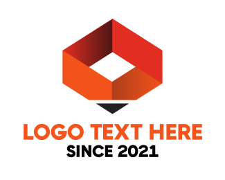 Student - Orange Pen Box logo design