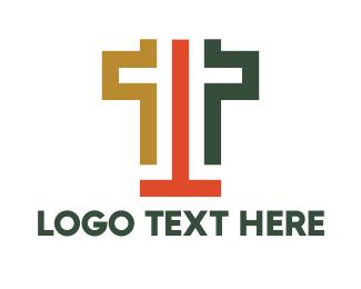 Linear - Abstract T Stroke logo design