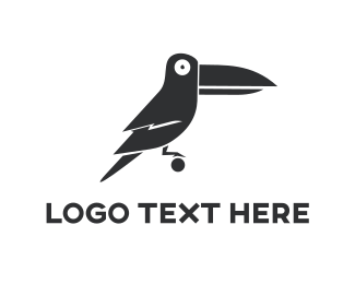 Chick - Black Toucan Cartoon logo design