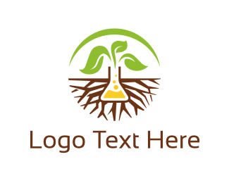 Test Tube - Root Lab logo design