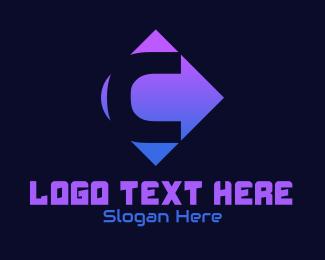 Letter C - Neon C logo design