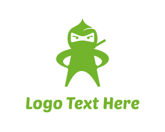Japan - Green Ninja logo design