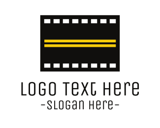 Filmstrip - Road Film  logo design