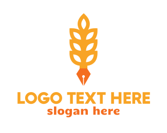 Copywriter - Rice Grain Pen logo design