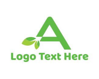 Organic - Organic Letter A logo design
