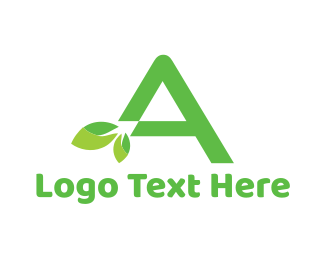 April - Organic Letter A logo design