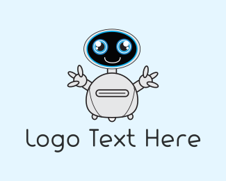 Machine - Cute Robot logo design