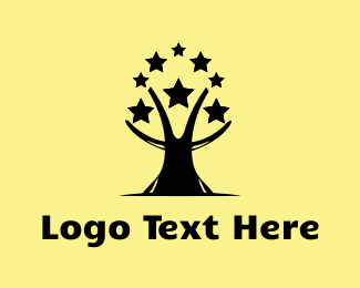 Famous - Star Tree logo design