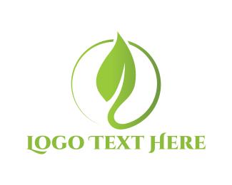 Bio - Leaf Circle logo design