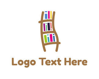 Ebook - Book Ladder logo design