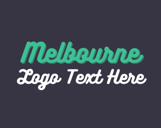 Wordmark - Melbourne Wordmark logo design