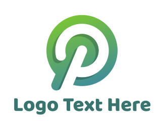 Modified - Gradient Circle P logo design