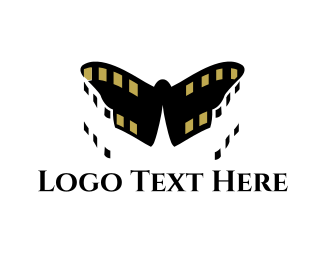 Filmstrip - Butterfly Film logo design