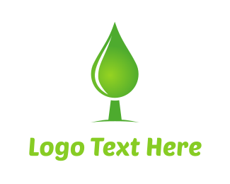 Recycling - Green Water Tree logo design