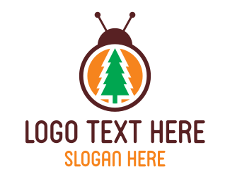 Lady Bug - Pine Bug logo design