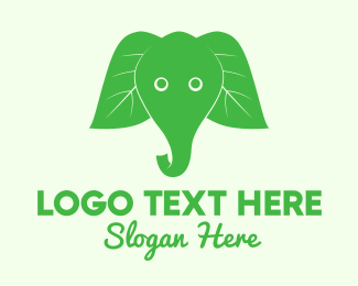 Child Care - Elephant Ear Leaves logo design