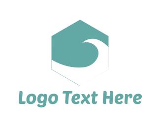 Hexagon - Water Hexagon logo design