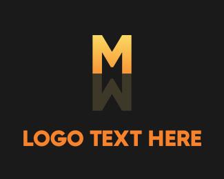 Hairstylist - Gradient M Reflection logo design