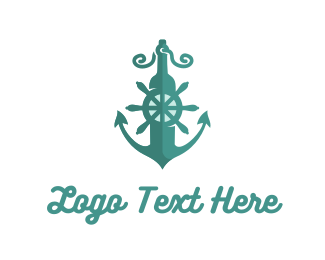 Water - Marine Anchor logo design