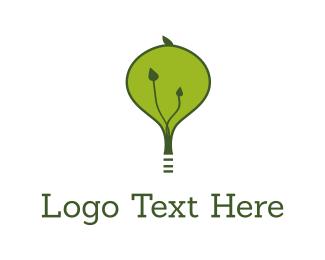 Bulb - Green Light logo design