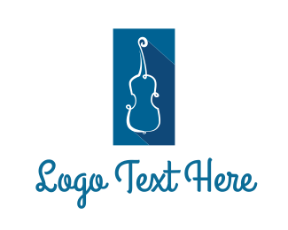 Classical - Blue String Instrument logo design