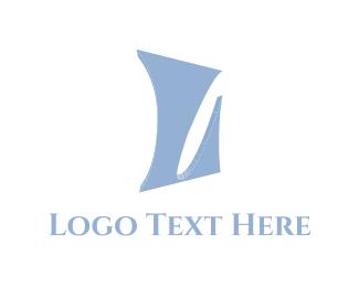 Alphabet - Blue Letter L logo design