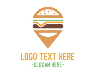 Positioning - Cheeseburger Pin logo design