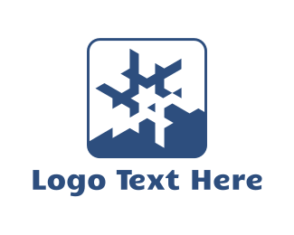 Winter - Star Snowflake logo design