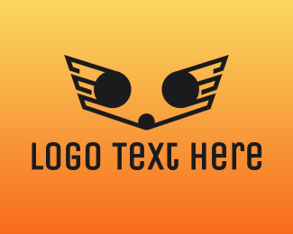 Airlines - Outline Wings logo design