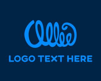 Calligraphy - Blue Signature logo design