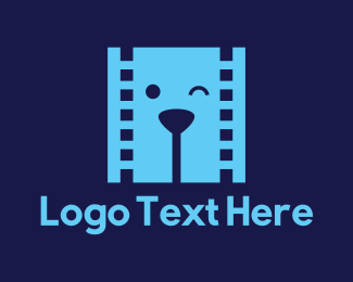 Filmstrip - Film Dog logo design