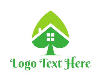 Spade - Green Spade House logo design