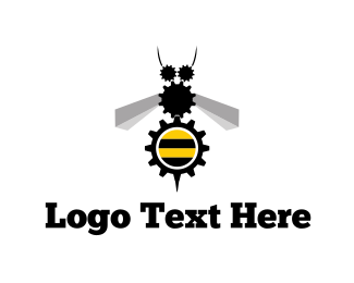 Mechanic - Industrial Bee logo design