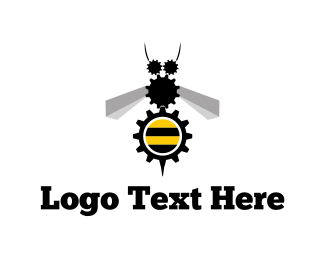 Bumblebee - Industrial Bee logo design