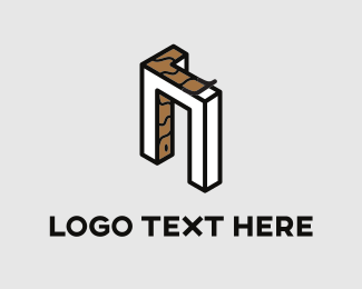 Room - White Door logo design