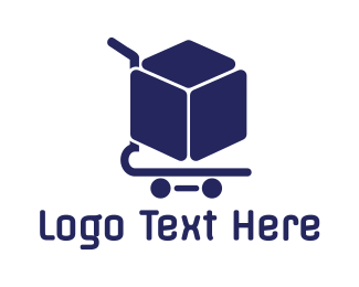 Electronic Device - Box Shopping Cart logo design