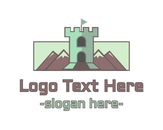 Fort - Mountain Tower logo design