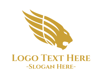 Fortune - Mythological Golden Lion logo design