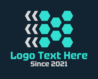 Hexagonal - Red Hexagons logo design