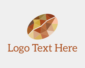 Coffee - Geometric Coffee Bean logo design