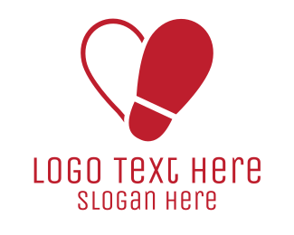 Love - Shoe love logo design