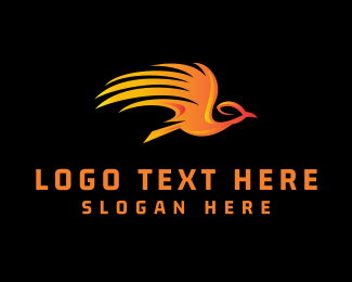 Flying - Flying Phoenix logo design