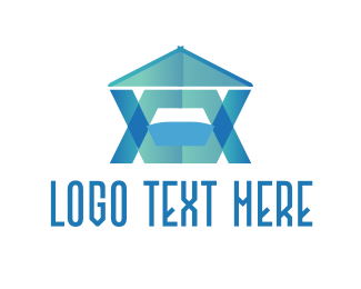 Storage - Blue Modern House    logo design