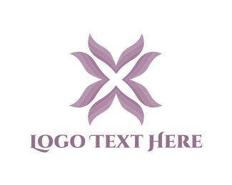 Feminine - Purple Flower logo design