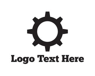 Cogwheel - Black Cogwheel logo design