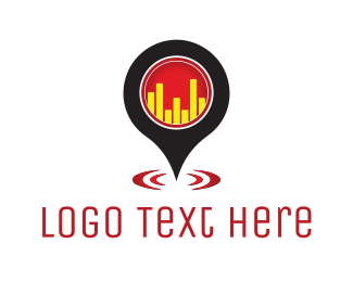 Bar Chart - Bar Locator logo design