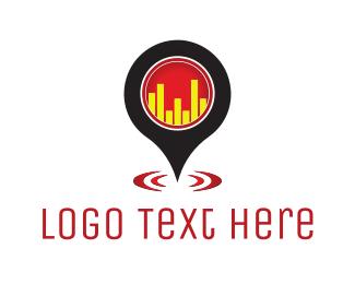 Bar Chart - Bar Locator logo design