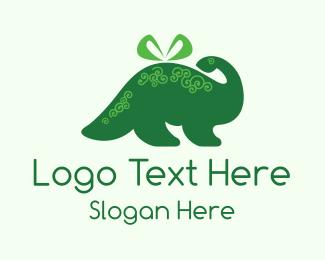 Gift Shop - Dino Present logo design