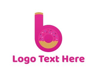 Doughnut - Sweet Letter B logo design
