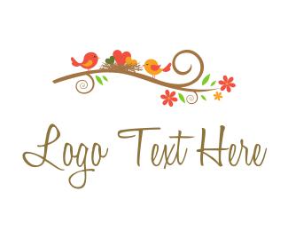 Wedding - Happy Little Nest logo design